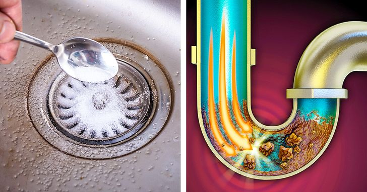 cheap ways to unclog a kitchen sink drain