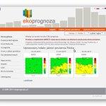 ekoprognoza czyli prognoza zanieczyszczenia powietrza atmosferycznego dla obszaru Polski i Europy Środkowej, z wykorzystaniem modelu GEM-AQ realizowana przez Fundację EkoPrognoza