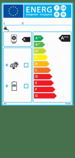 Etykieta energetyczna dla zestawu zawierającego podgrzewacz wody i urządzenie słoneczne - wlaczoszczedzanie.pl