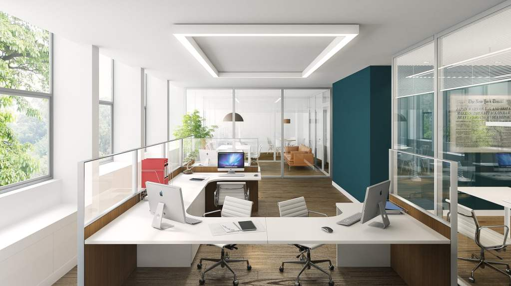 Właściwe oświetlenie biura podczas eksploatacji budynku podnosi komfort warunków pracy, wpływa na oszczędzanie energii, zdrowie i samopoczucie pracowników