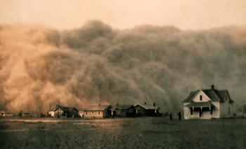 Burza pyłowa w Teksasie w roku 1935