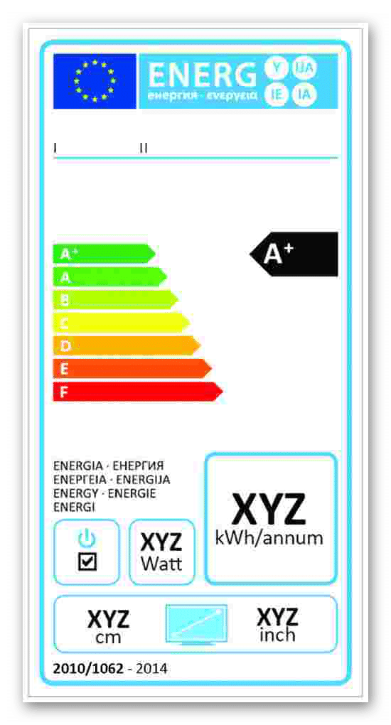Etykieta energetyczna dla telewizorów wprowadzonych do obrotu od 01 stycznia 2014 roku