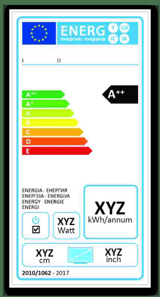 Etykieta energetyczna dla telewizorów wprowadzonych do obrotu od 01 stycznia 2019 roku