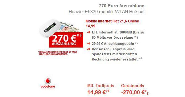 günstiger Vodafone Datentarif mit 3GB