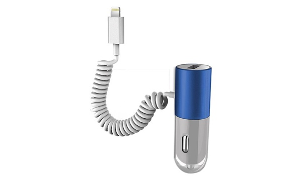 günstiges Ladegerät im Auto Apple Lightning Anschluß USB Zigarettenanzünder