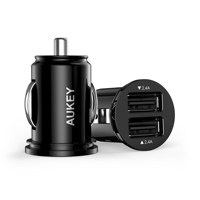 Aukey® Kfz Ladegerät 4.8A Dual Port Autoladegerät mini für iPhone Samsung Huawei HTC