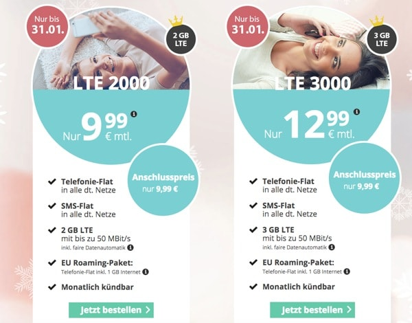 günstiger Handytarif unter / bis 10 Euro im Monat