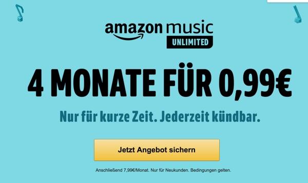 Amazon Music Unlimited fast kostenlos testen