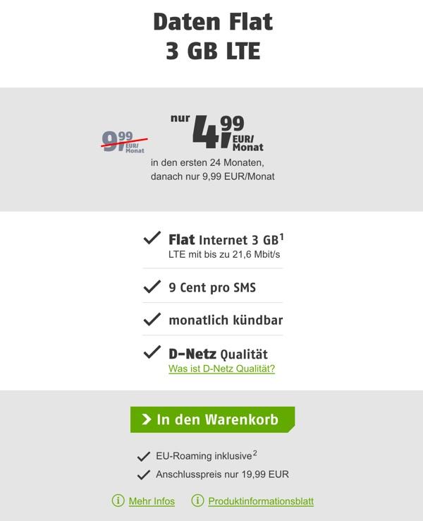 Internet-Flat D-Netz günstig