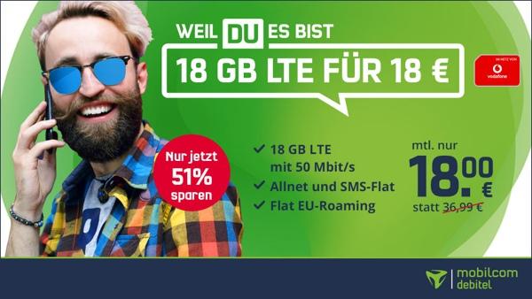 günstige Allnet Flat mit viel Datenvolumen