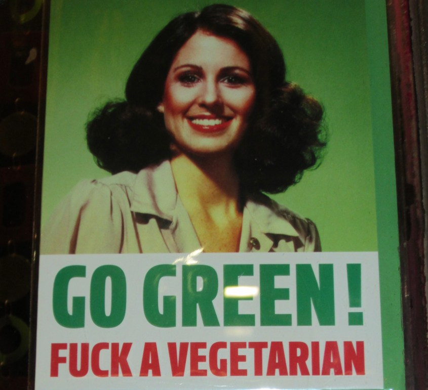 Going Green in Rome A risqué poster with commands #Rome #streetart #poster