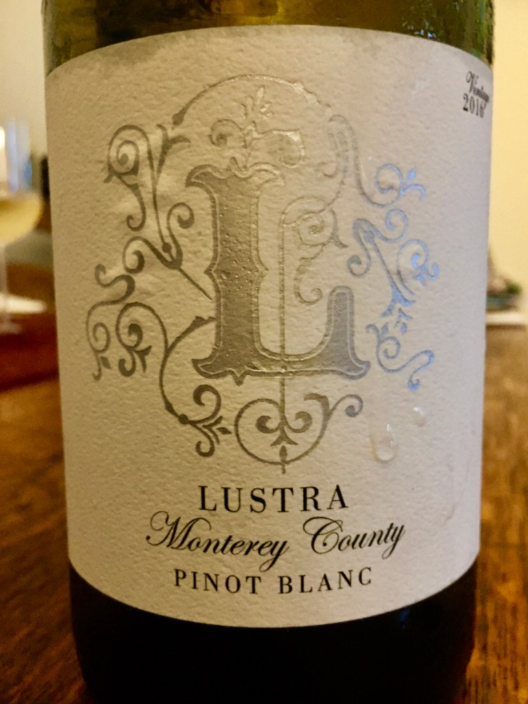 label of Lustra Monterey County Pinot Blanc 2016