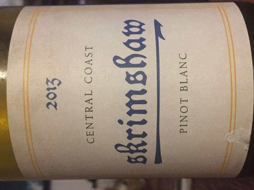 Label from bottle of Skrimshaw Central Coast Pinot Blanc 2013