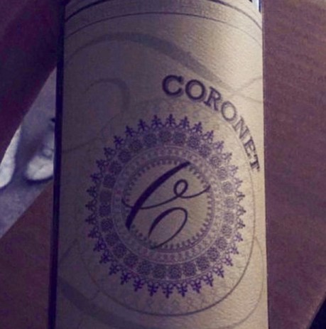 Label from bottle of Coronet Paso Robles Zinfandel 2015