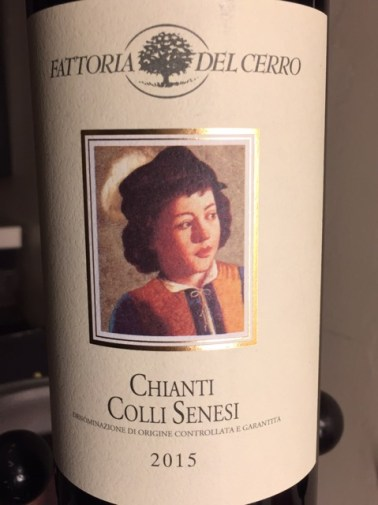 Label from bottle of Fattoria del Cerro Chianti Colli Senesi 2015