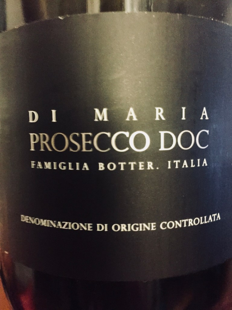 Label from bottle of Botter Di Maria Prosecco N.V.