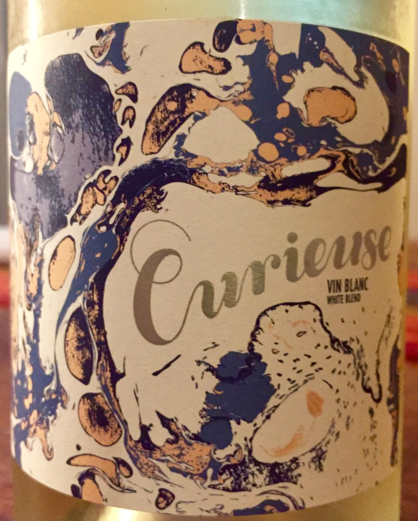 Label from bottle of Curieuse Vin Blanc Pays D'Oc 2016