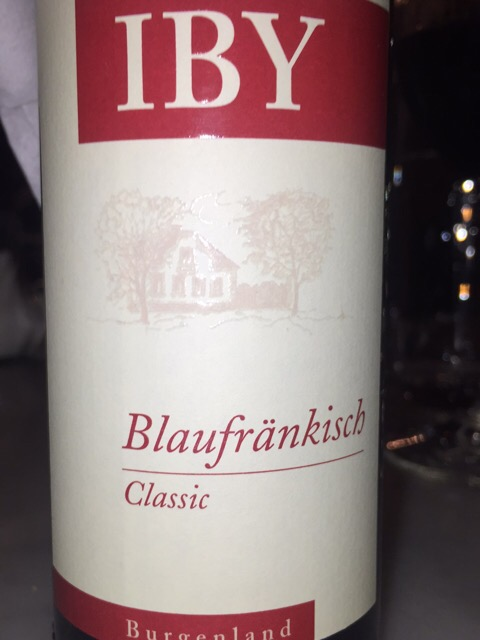 Label from bottle of IBY Burgenland Blaufrankisch Classic 2017