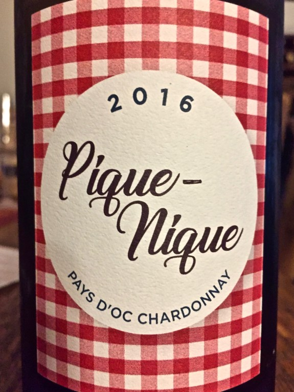 Label from bottle of Pique-Nique Pays d'Oc Chardonnnay
