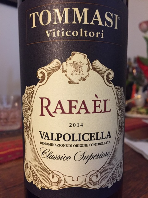 Label from bottle of Tammasi Viticoltori Rafael Valpolicella Classico Superiore 2014