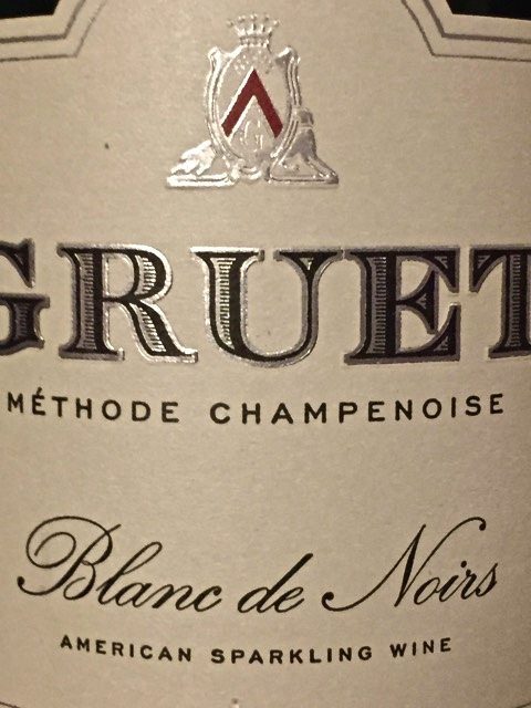 Label from bottle of Gruet Blanc de Noirs Methode Champenoise
