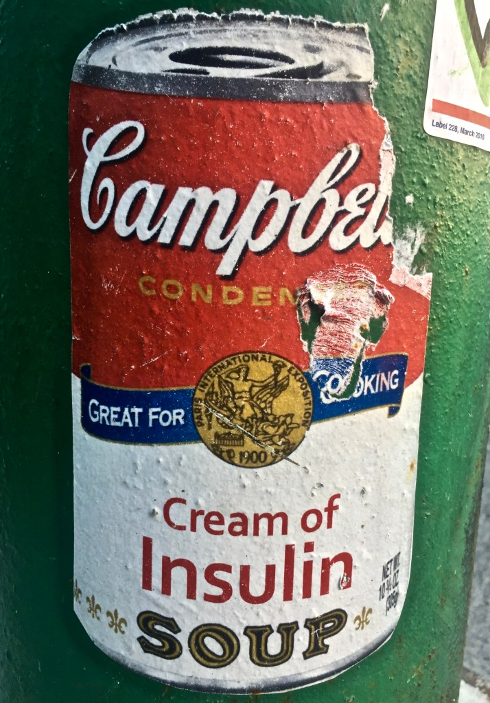 Sicker of Campbell's Cream of Insulin Soup