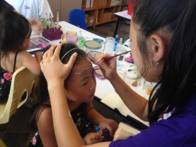 Face painting for kids.