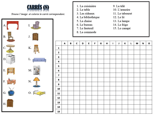 Foreign Language Vocabulary Puzzles-Great for Do Nows (French, Spanish) wlteacher.wordpress.com