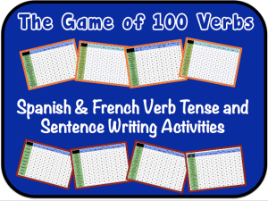 Spanish & French Verb Tense and Sentence Writing Powerpoint Activities