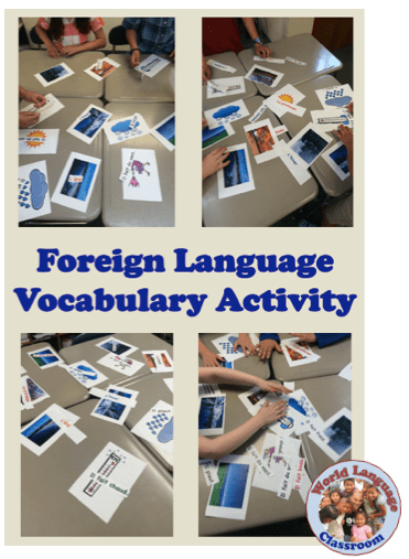 Foreign (World) Language Vocabulary Activity (French, Spanish) wlteacher.wordpress.com