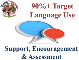 90%+ Target Language Use: Support and Assessment, SlideShare (French, Spanish) www.wlclassroom.com