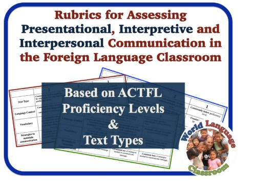 Foreign Language Assessment Rubrics (Interpersonal, Interpretive, Presentaional) (French, Spanish) www.wlclassroom.com)