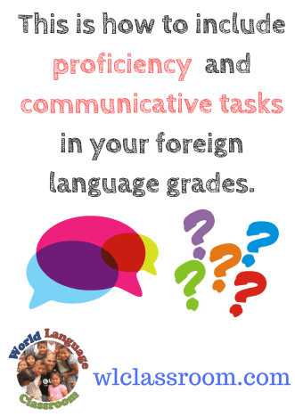 How to include proficiency in a traditional grade. (French, Spanish) www.wlclassroom.com