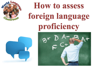 How to Assess Foreign Language Proficiency (SlideShare) (French, Spanish) www.wlclassroom.com