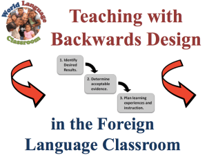 Backwards Planning in the Foreign Language Classroom (French, Spanish) www.wlclassroom.com