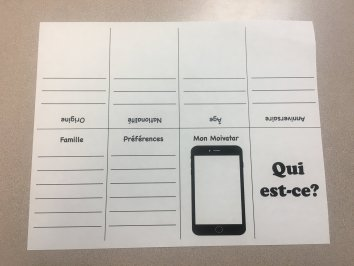 """Who is it?"" Guess Who Activity for Level 1 Foreign Language Students (French, Spanish)"