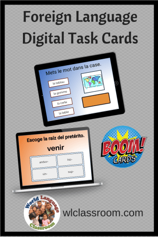 Foreign Language Digital Task Cards (Boom) French, Spanish