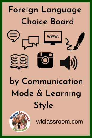 Choice Boards by Communication Mode in the Foreign Language Class