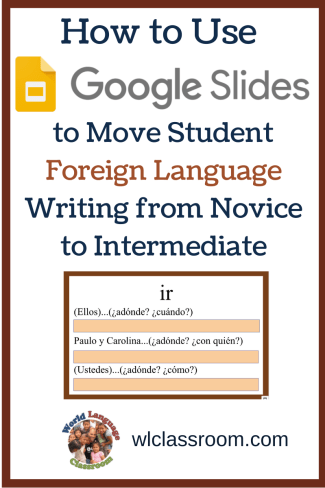 Moving Student Foreign Language Writing from Novice to Intermediate (French, Spanish)