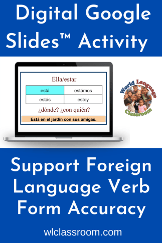 French & Spanish Digital Google Slides Activities