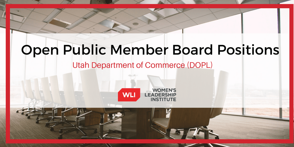 Currently Vacant DOPL Board Positions for Public Members