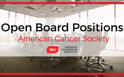 American Cancer Society Open Board Positions in 2021