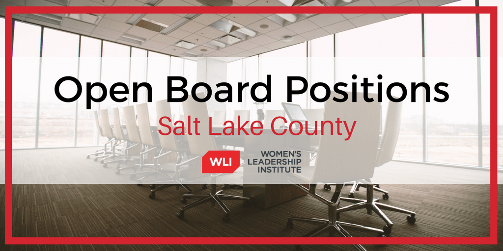 September 2019 Salt Lake County Open Board Positions