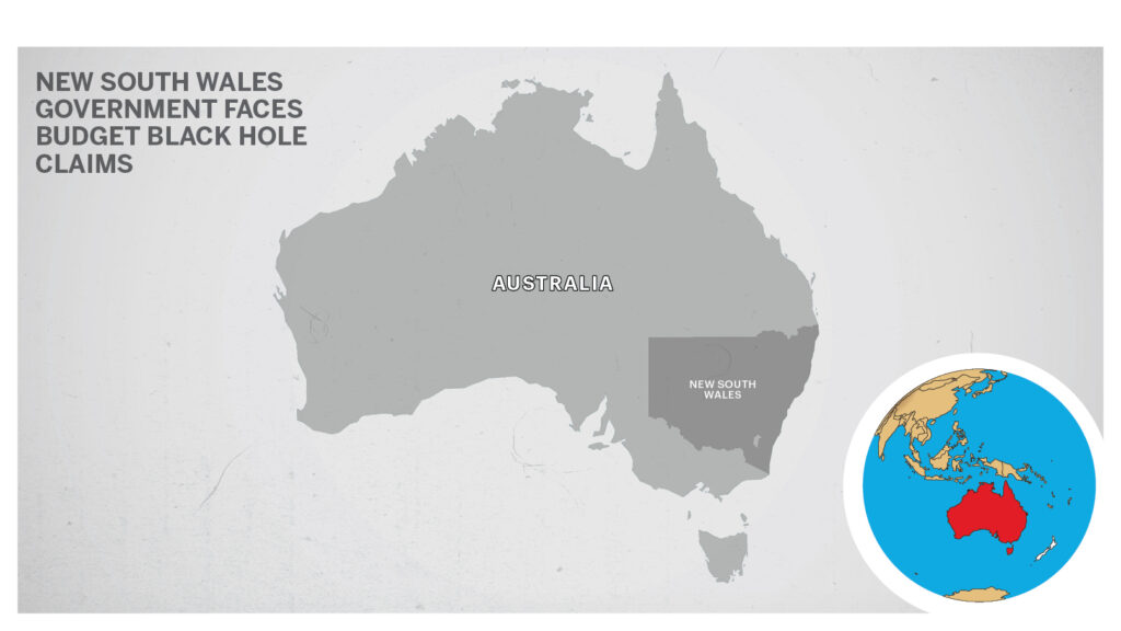 Map of New South Wales, Australia