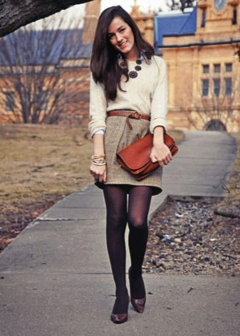 How to wear a sweater and skirt? 33