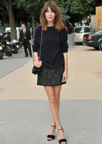 How to wear a sweater and skirt? 34