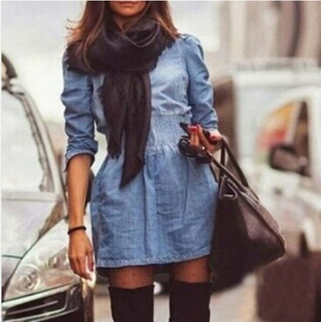 What can I wear with a denim shirt dress? 15