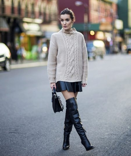How to wear a sweater and skirt? 22