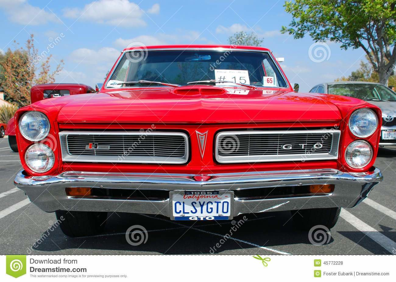 New Classic Pontiac Gto Muscle Car Editorial Stock Photo On This Month