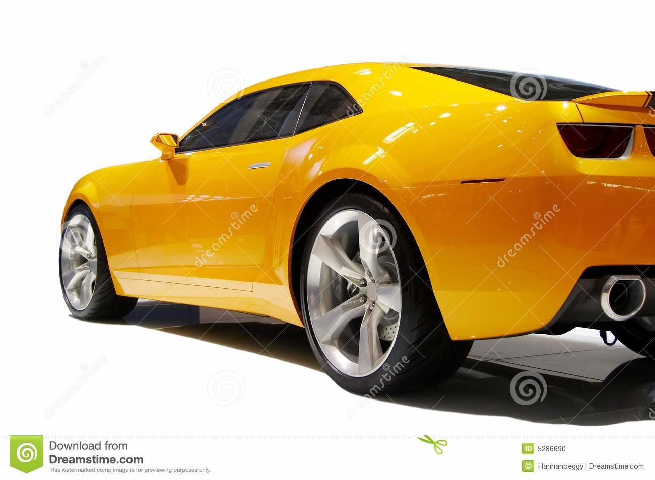 New Yellow Sports Car Stock Photo Image 5286690 On This Month